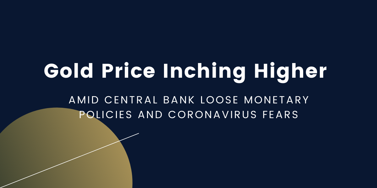 Gold-Price-Inching-Higher-Amid-Central-Bank-Loose-Monetary-Policies-and-Coronavirus-Fears