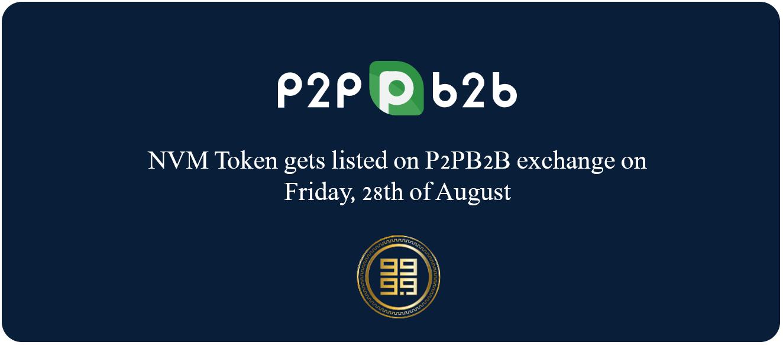 NVM listed to P2PB2B